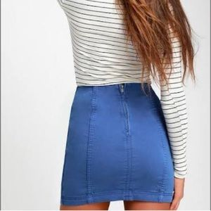 Free People Skirts - NWT TURQUOISE Free People Denim Skirt